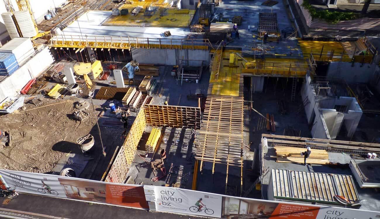 Baustelle Stadtwohnungen Bozen