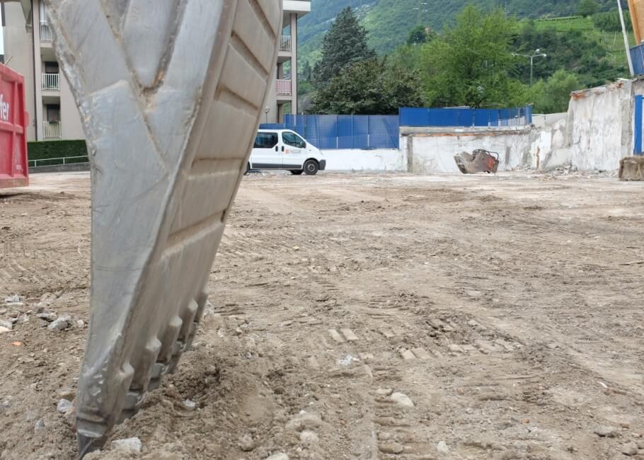 Baustelle Neubau Meran