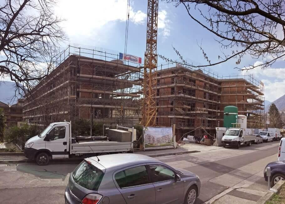 Baufortschritt neue Wohnanlage Juval Naturns Immobilien