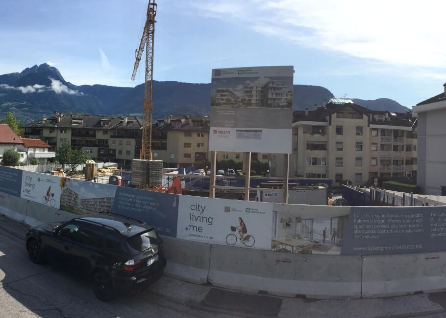Baustelle Stadtwohnungen Meran