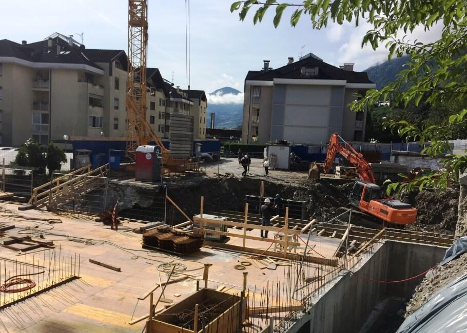 Baustelle Neubau Wohnungen Vinschgau