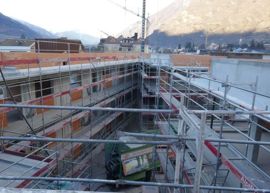 Baustelle Neubau Naturns