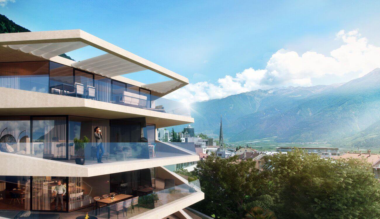Schlossgarten - Schlanders- Penthousewohnung zu verkaufen