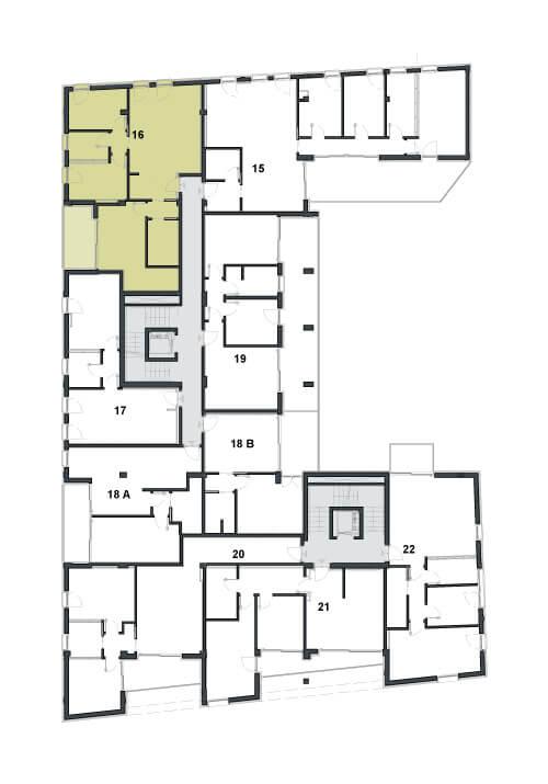 Grundriss Büro im Zentrum von Trient Via Travai