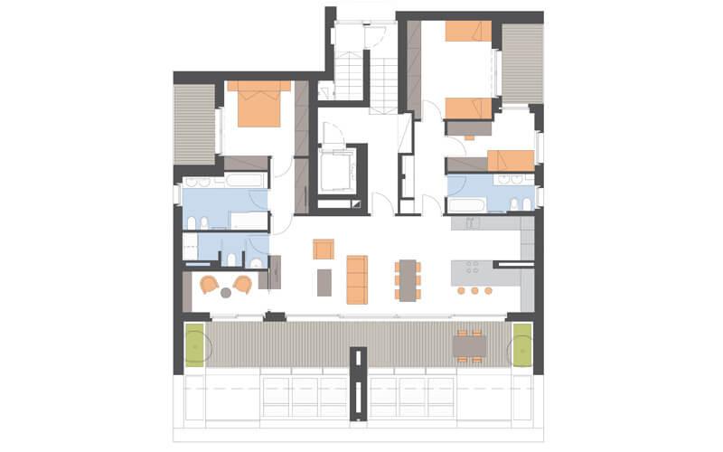 Grundriss Wohnung Bozen