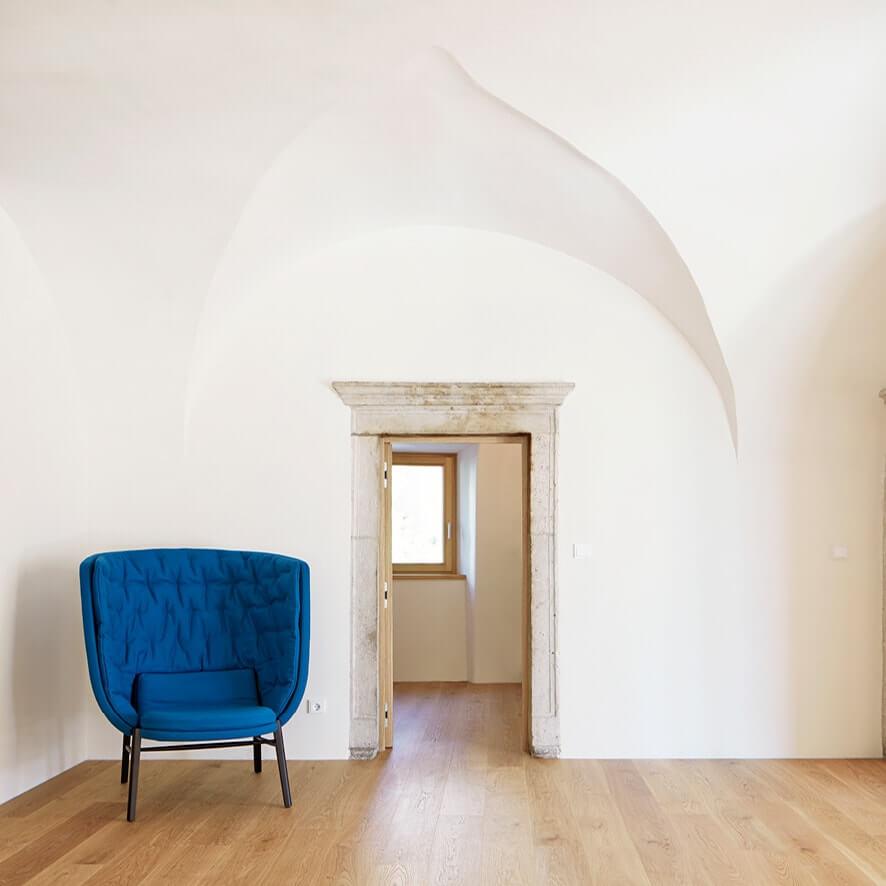 Renovierter Gewölberaum