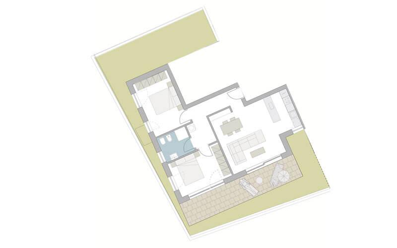 Gartenwohnung in Meran