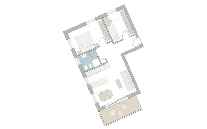 3- Zimmer-Wohnung in Meran