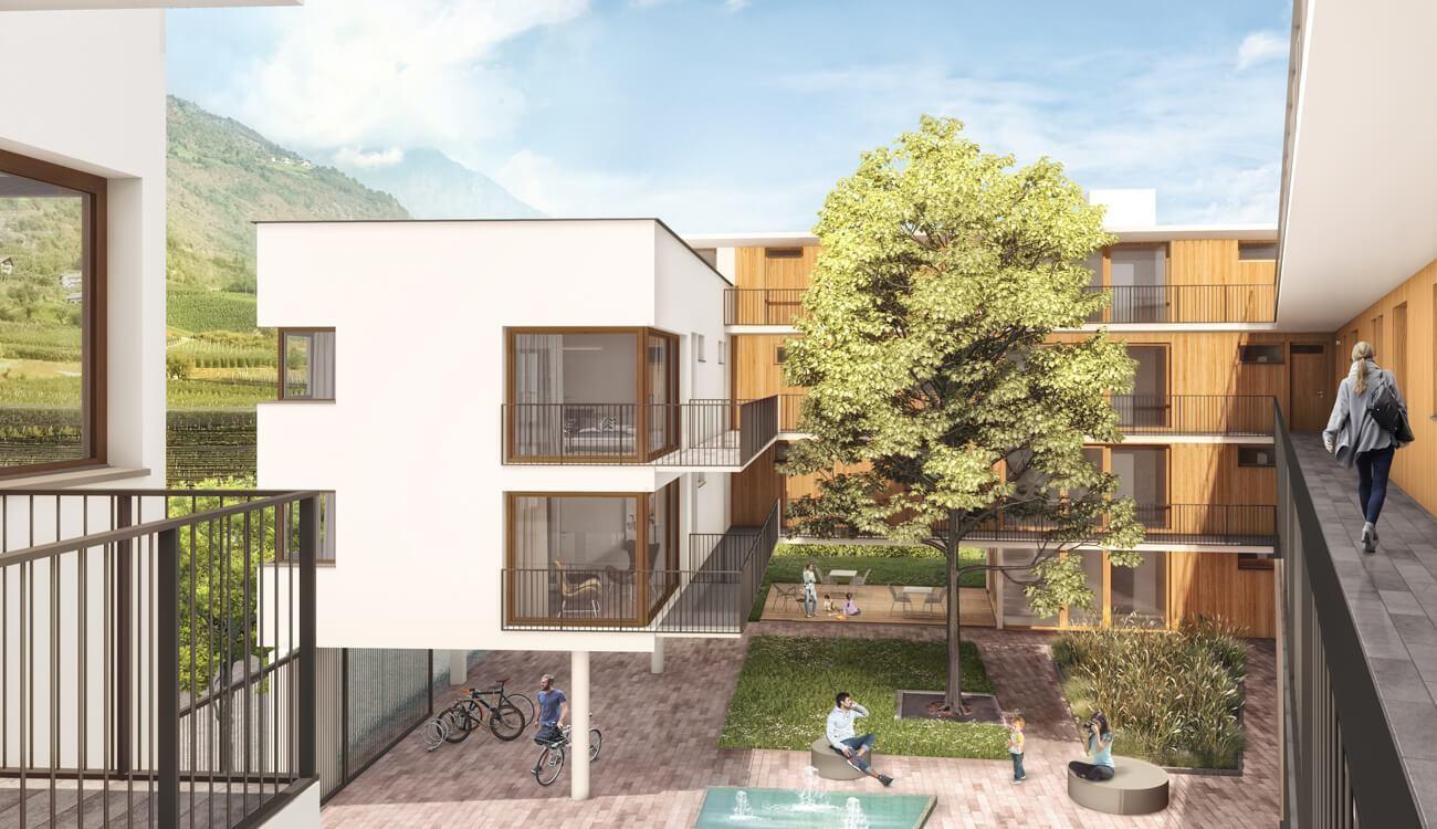 Visualisierung Haus Juval - Neubau Naturns