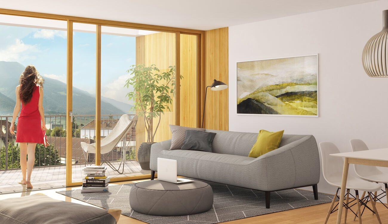 Visualisierung Haus Juval- Naturns