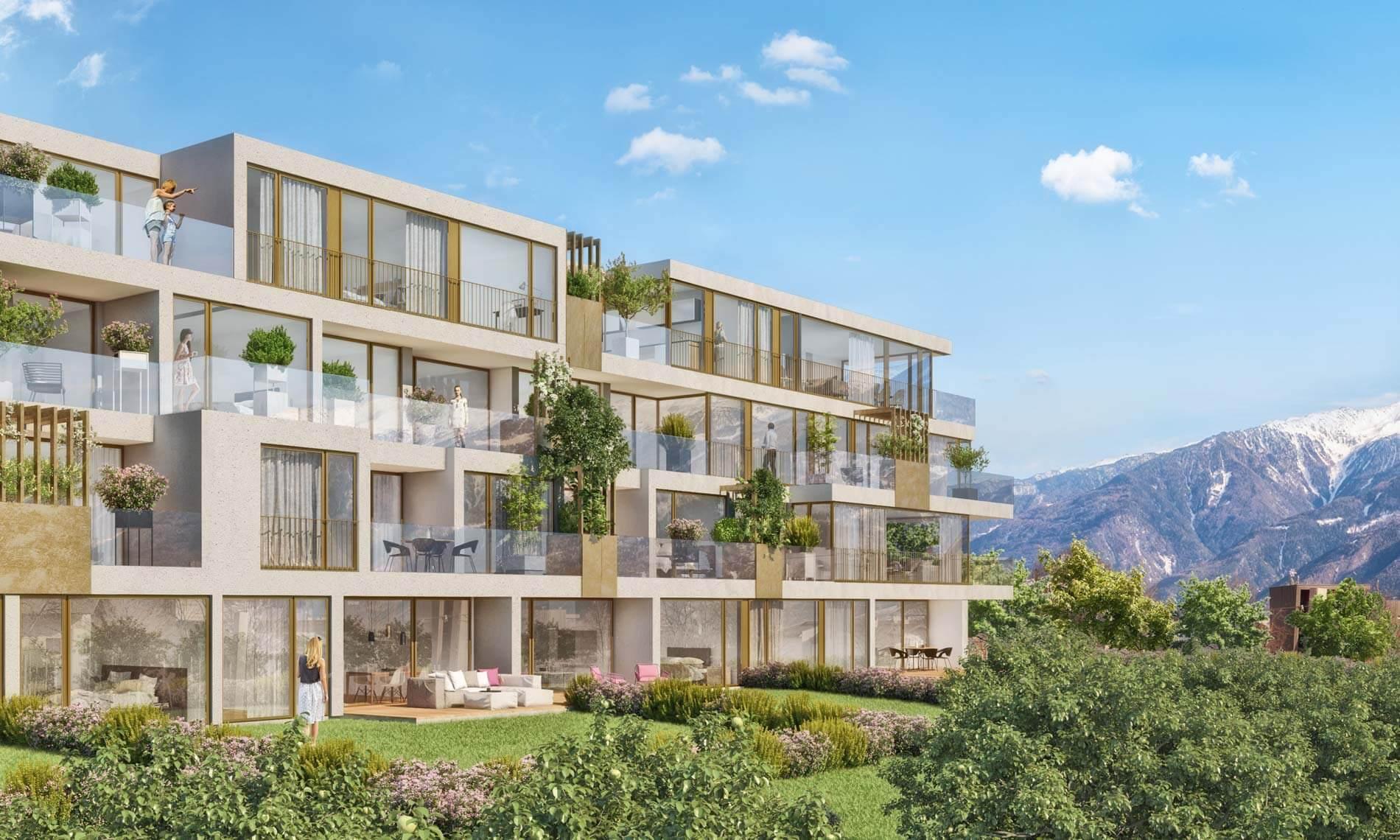 Visualisierung neue Immobilie Apfelanger Schlanders