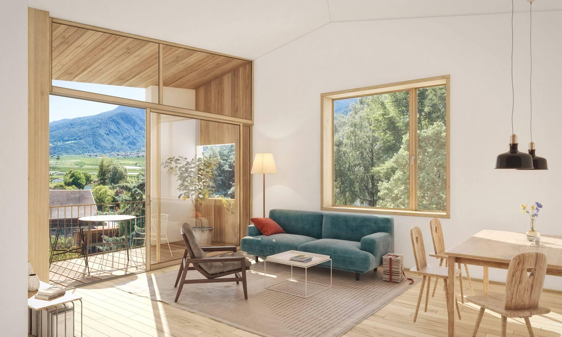 Moderne Neubauwohnungen in Latsch