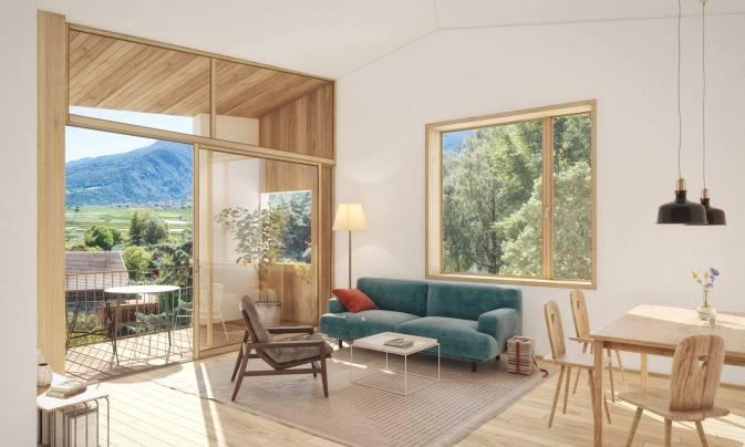 Neue Hofstelle in Latsch - Wohnungen für Familien