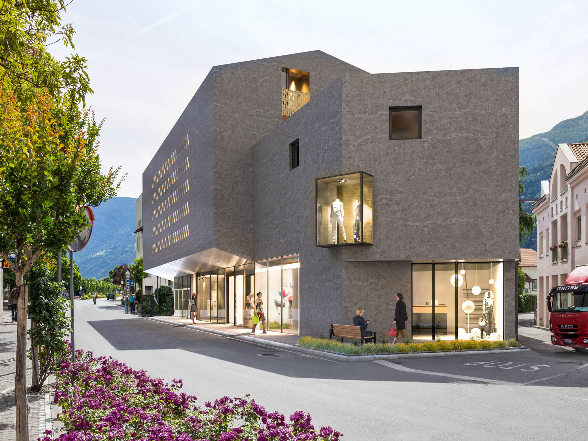 Visualisierung Haus Baumgärtner Neubau Naturns